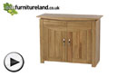 Watch Tokyo Natural Solid Oak Small Sideboard video