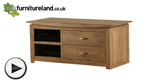 Watch Tokyo Natural Solid Oak Widescreen TV + DVD Cabinet video